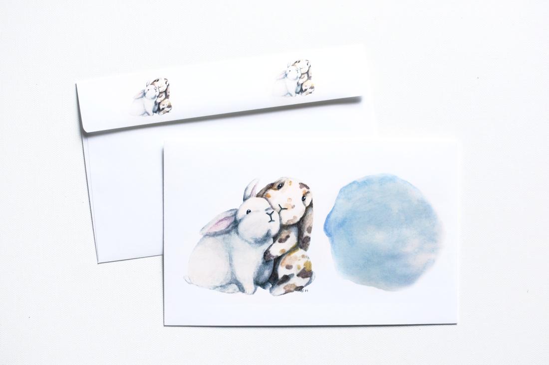 bunny envelope etsy 3
